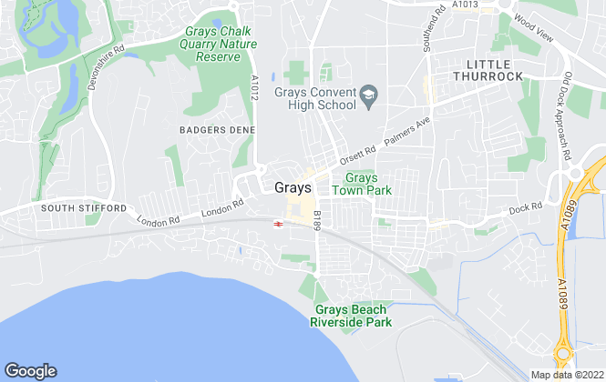 Map for Griffin Residential, Grays