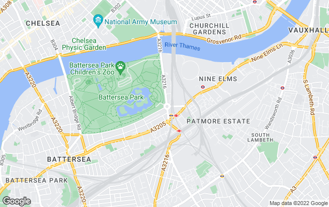 Map for James Pendleton, Battersea Park & Nine Elms