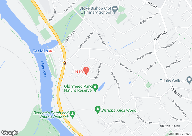 Map for Sneyd Park (BS9) Glenavon Court
