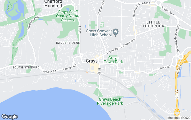Map for Copes Estate Agents, Grays