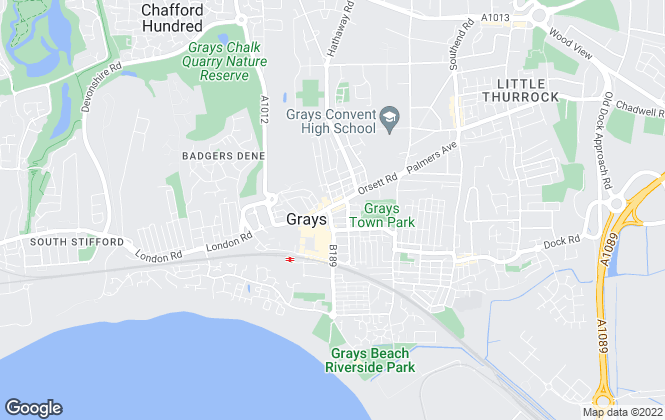 Map for Grant Allen Estate Agents, Grays