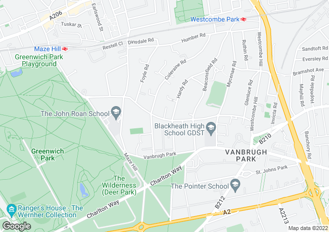 Map for Venn House, London, SE3