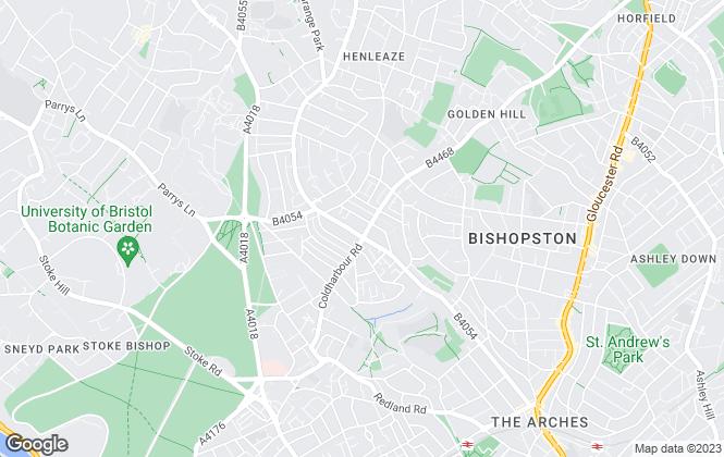 Map for Pentrich Properties, Bristol