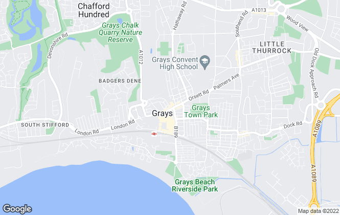 Map for Kempsters Estate Agents, Grays