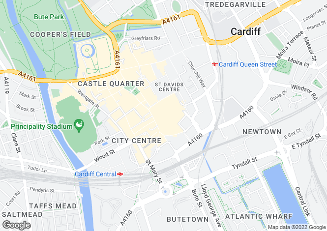 Map for The Hayes, Cardiff