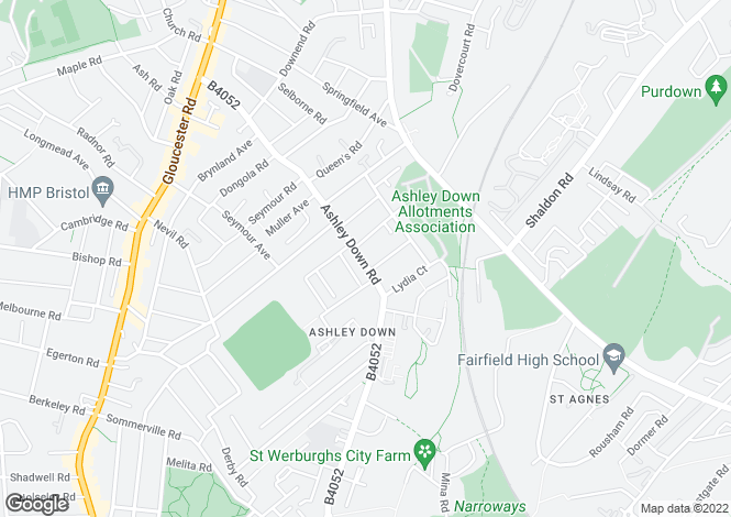 Map for 172, Ashley Down Road, Bristol, BS7