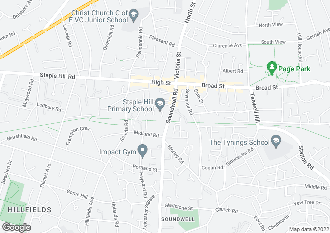 Map for Soundwell Road, Staple Hill