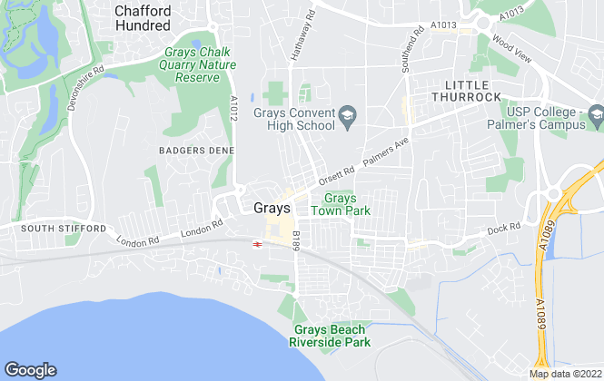 Map for Bairstow Eves, Grays