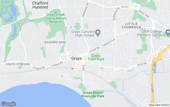 Map for Thomas Marsh, Grays