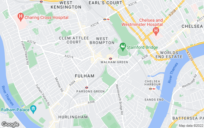 Map for Kinleigh Folkard & Hayward - Lettings, Fulham and Chelsea