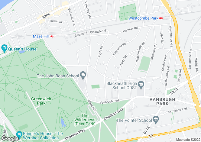 Map for Westcombe Park Road, Blackheath, SE3 7QZ