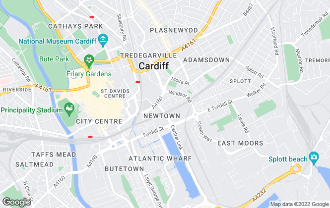 Map for Safestore Limited, Cardiff Central