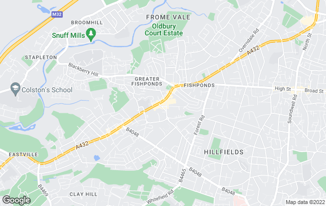 Map for Taylors Estate Agents, Fishponds