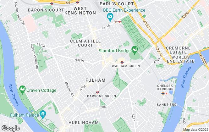 Map for John D Wood & Co, Fulham Broadway