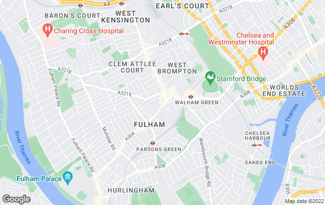 Map for Faron Sutaria, Fulham