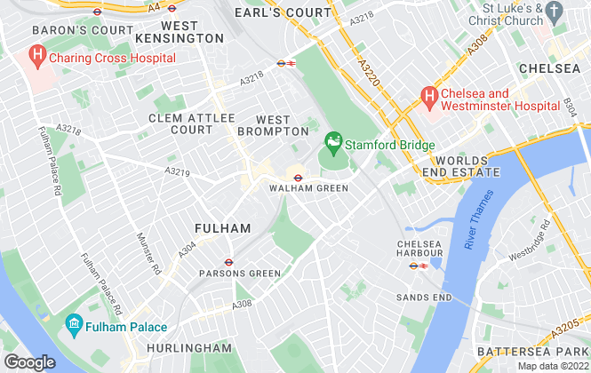 Map for Dexters, Fulham