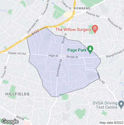 Map of property in Staple Hill