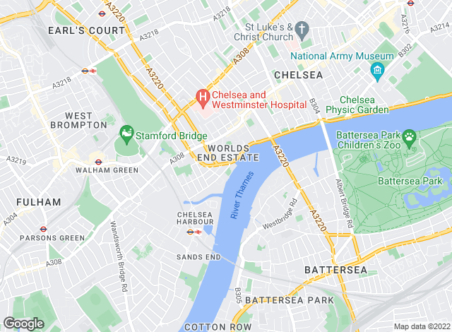 Map for Martin & Co, Chelsea & Riverside Lettings & Sales