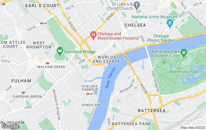 Map for Martin & Co, Chelsea Sales & Lettings