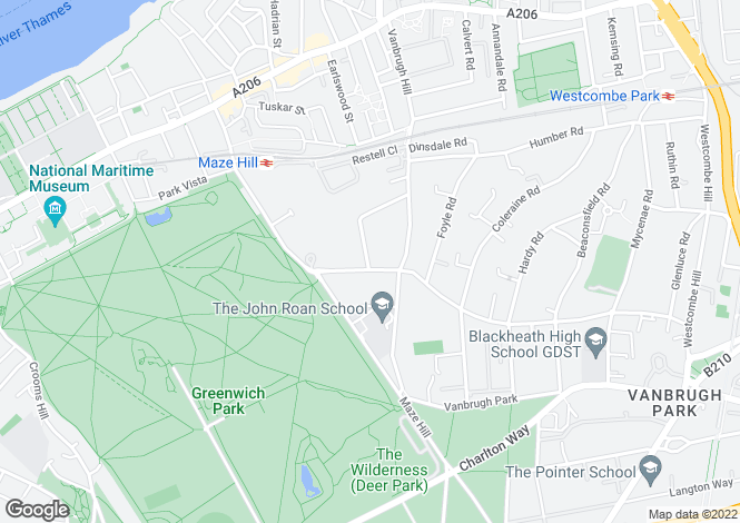 Map for Westcombe Park Road, Blackheath, SE3 7RE