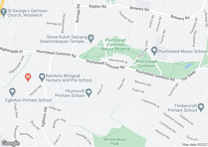 Map for Plumstead, London