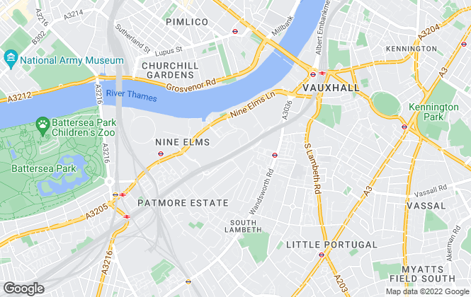 Map for Battersea & Nine Elms Estates, London