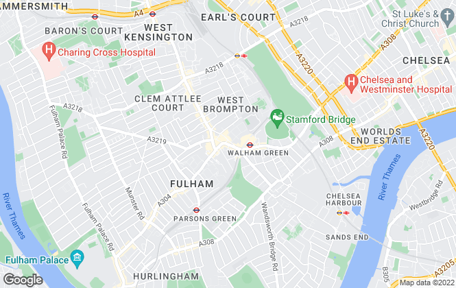 Map for Barnard Marcus Lettings, Fulham Lettings
