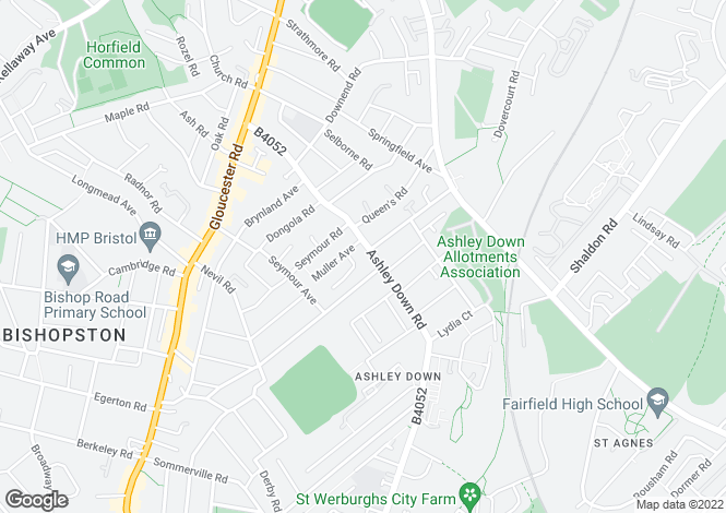 Map for Ashley Down Road, BRISTOL, BS7 9JT