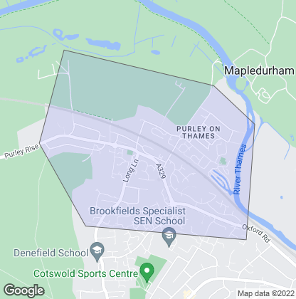 Map of property in Purley On Thames
