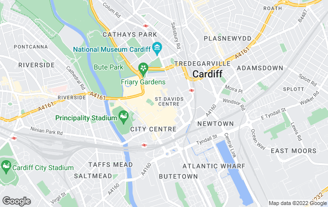 Map for pa black marketing Suite, Cardiff