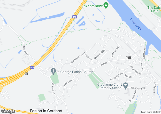 Map for The Breaches, Easton-In-Gordano, Bristol BS20