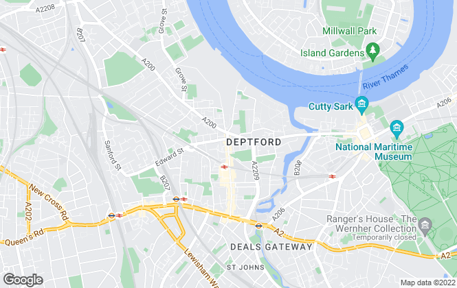 Map for Keatons, Deptford