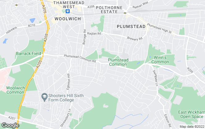 Map for David Evans Property Services, Plumstead Common