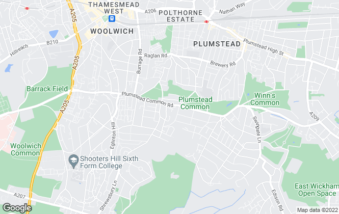 Map for Goodwin Ellis, Plumstead
