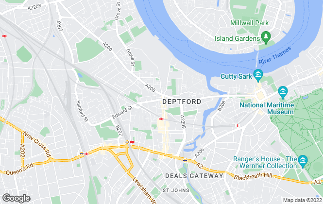 Map for The Property Manager, Greenwich