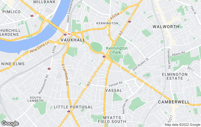 Map for ludlowthompson, Kennington Oval - Lettings