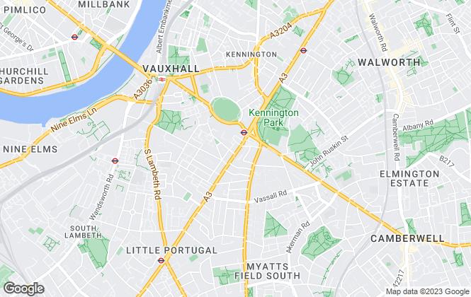 Map for ludlowthompson, Kennington Oval - Sales