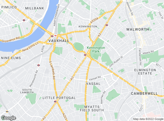 Map for ludlowthompson.com , Kennington Oval - Sales