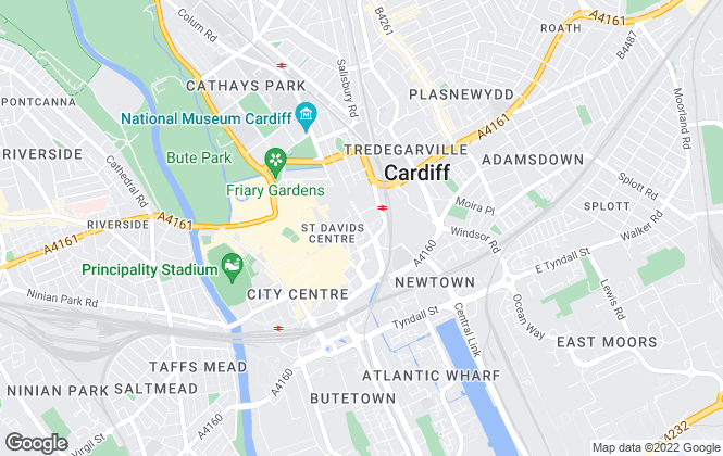 Map for Thomas George , Cardiff Lettings