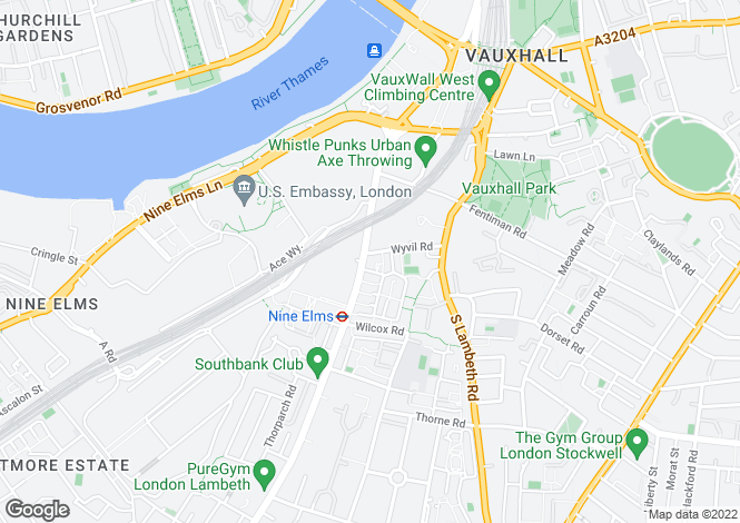 Map for Wyvil Road, Vauxhall, London, SW8