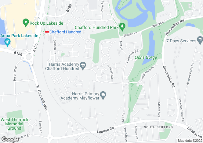 Map for Norfolk Place, Chafford Hundred