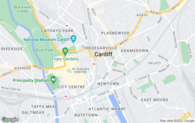 Map for Christie & Co , Cardiff