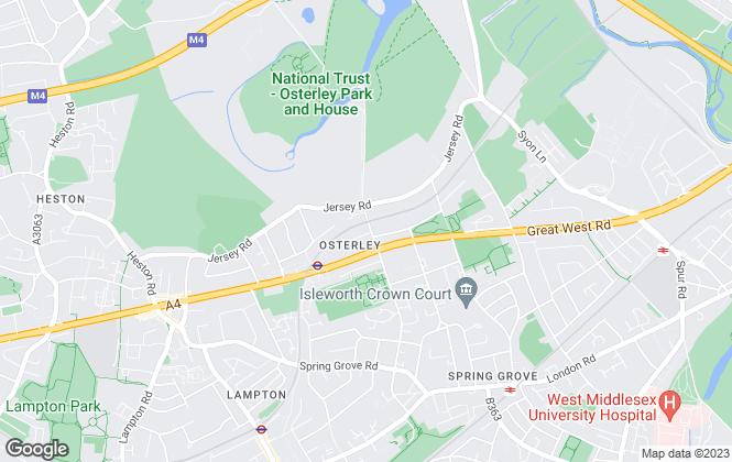 Map for Stewart Hunter Ltd, Osterley
