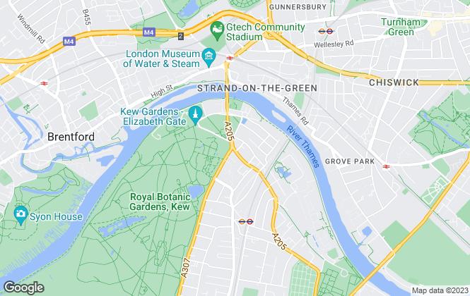 Map for Dexters, Kew