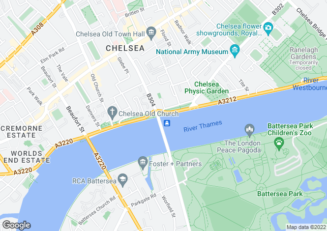 Map for Cadogan Pier, Chelsea, SW3