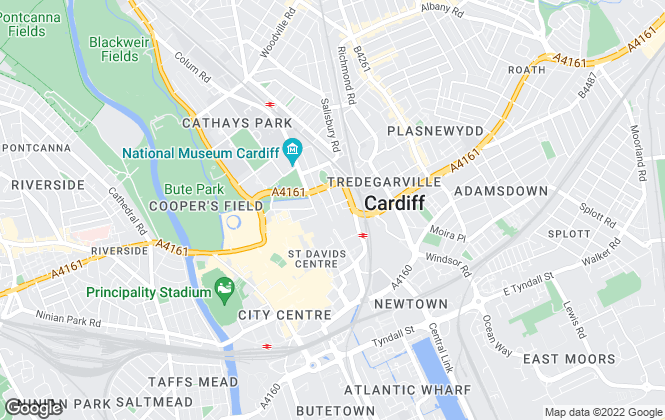 Map for Cooke & Arkwright Limited, Cardiff