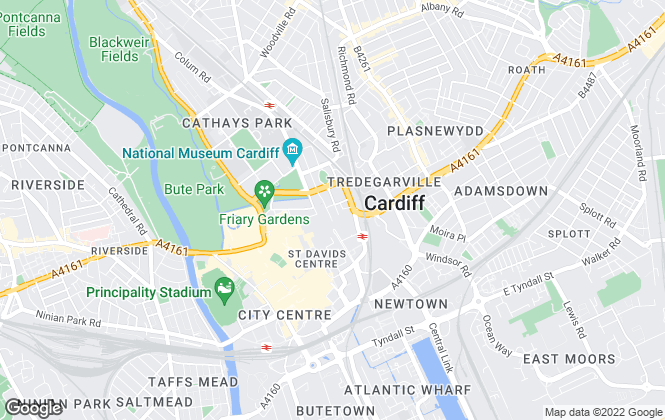 Map for Cooke & Arkwright, Cardiff
