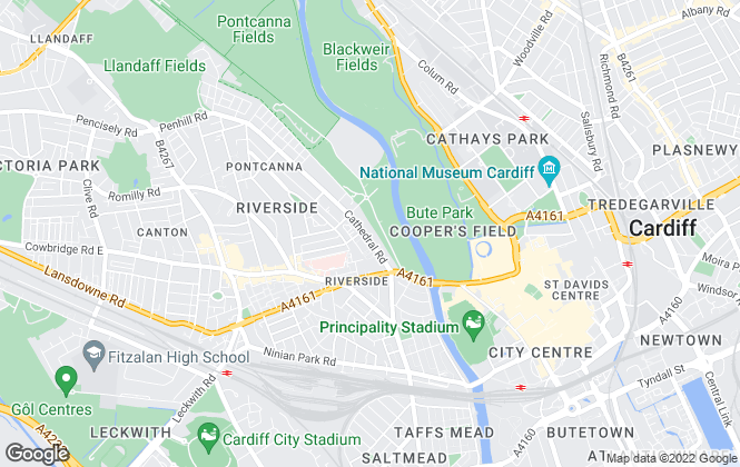 Map for The Rent Guru, Cardiff