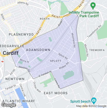 Map of property in Splott