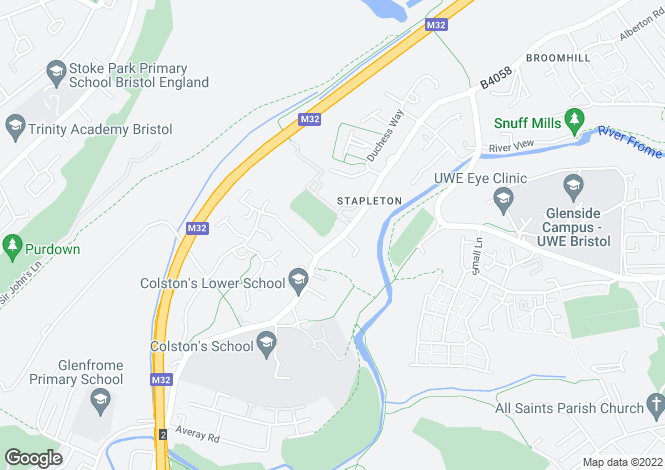 Map for Stapleton, Bristol